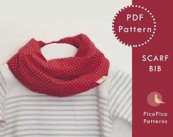 Baby Sewing Patterns Scarf Bib Pdf Baby Scarf Bib