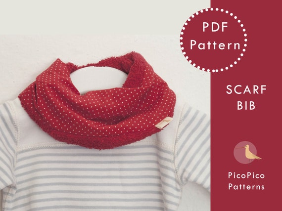 Baby Sewing Patterns Scarf Bib Pdf Baby By Picopicopatterns