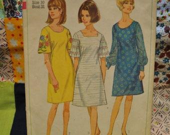 Vintage Simplicity Pattern 6997 Women's Dress