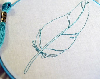 Falling Feathers- 8 Feather Designs -PDF Embroidery Pattern