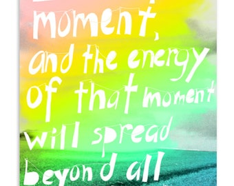 Love the moment, quote by Corita Kent - Inspirational Postcard (Set of 5)