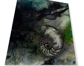 Ocean Treasures Series ... No. 1 ... Original Mixed Media Contemporary Modern painting by Kathy Morton Stanion EBSQ