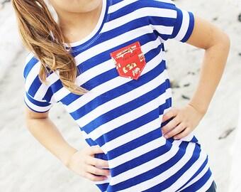 Girls' Dolman Top PDF Sewing Pattern - Skipper Top pdf Pattern by Sew Much Ado - Sizes 6m-10