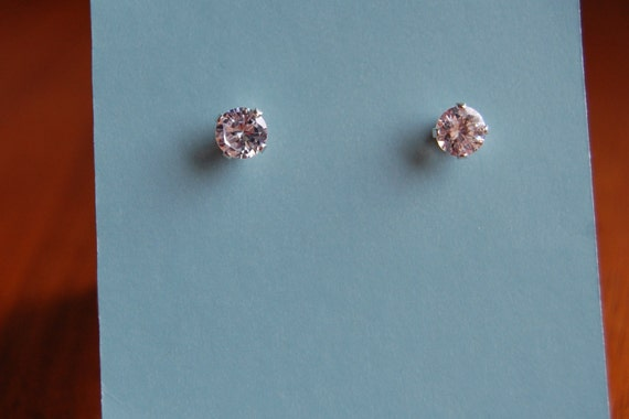 """READY TO SHIP: Budget Bling """"Diamond"""" Earrings, Small Stud Earrings with Sparkle"""