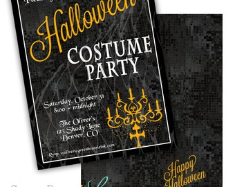 HALLOWEEN Printable Party Invitation - Printing Available