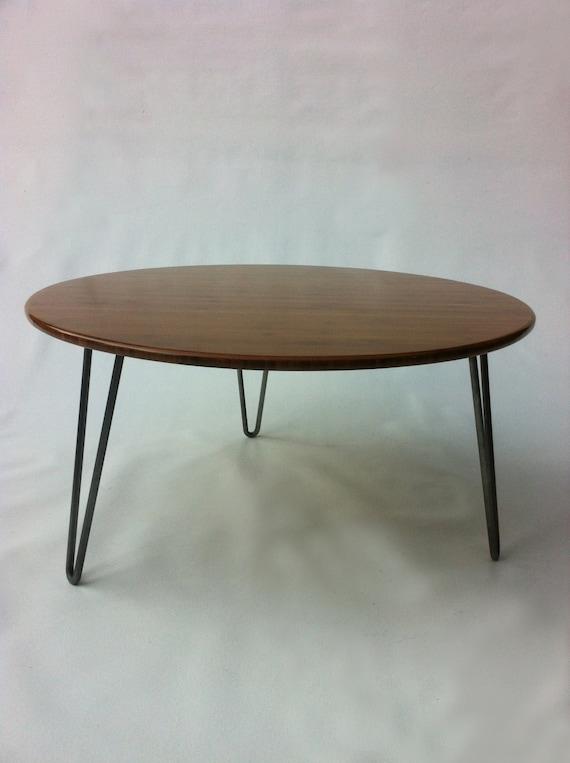 34 Round Mid Century Modern Coffee Table Atomic Eames Era Design In