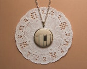 Book Collection Photograph Necklace - Photograph on Fabric Charm Necklace - Soft Pastels - Original photography