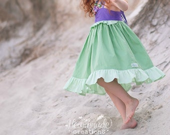 Ariel - Everyday Princess Dress - Character Inspired Dress - Sizes 6/12 months to 8