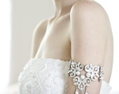 Vintage inspired  bridal arm cuff BL4055 wedding, bridal, bride wedding arm cuff deco rhinestone crystal wedding accessories, bridal jewelry