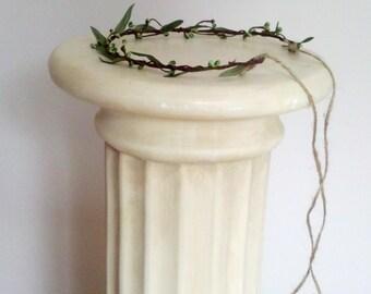 Green Flower crown Simple Headdress Greek Goddess Vine hair wreath Bridal minimalist wedding accessories pip berry girl halo photo prop