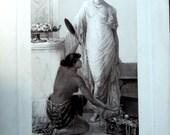 Vintage Photogravure, Women, The Bride, Gebbie and Husson Ltd., Windsor Gallery,cr 1880s, Bride in attendance