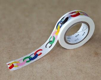Ring Vivid, Mina Perhonen, Japanese mt Washi Paper Masking Tape, Adhesive Tape, Scrapbooking, Collage, Gift Wrapping, Journal Decoration