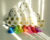 Pillow Cloud Rainbow or Toy - felt sewing pattern PDF - children room, home decor - Instant DOWNLOAD