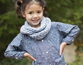 BLUE Toddler Scarf, Wrap Cowl Scarf, Scarves Kids, Little Girl Infinity Scarf, Photo Prop Wrap Cowl, Photography Kids Scarf Cowl, Scarf Cowl