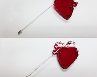 heart brooch - I'M NOT FRAGILE