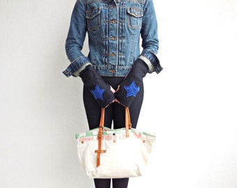 Fingerless Gloves Arm Warmers Mittens Recycled Gloves Eco Friendly Gloves Girls Gloves Winter Accessories Cotton Gloves ohzie