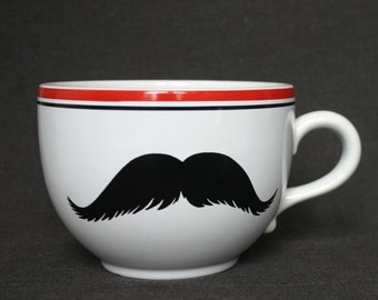 Mister Mustache on a giant cup. Guys Christmas gift idea.