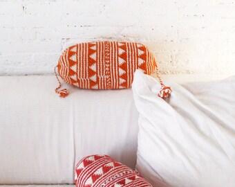 Pillow Crochet Marrakech  -  Orange triangles