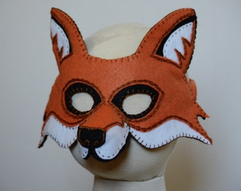 Popular items for fox mask on etsy for Fantastic mr fox mask template