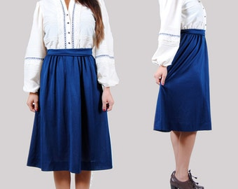 Vintage 70s Dress - Schoolgirl Dress - Ribbon and Lace - Balloon Sleeves - Small - Medium