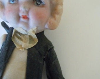 Bisque Groom Doll Original Clothes Cake Topper Groom