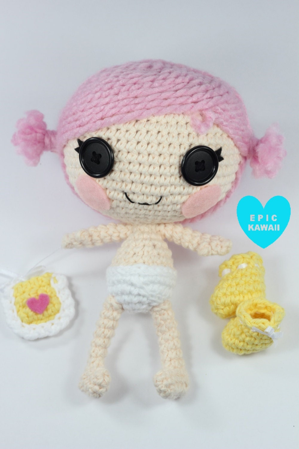 Amigurumi Pattern Dolls : PATTERN: Little Crochet Amigurumi Doll