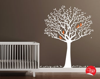Wall Decals Tree Decal with Birds Original Wall Decal Sticker