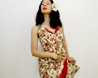 Vintage Style Dress - Red - Vintage Style - Small