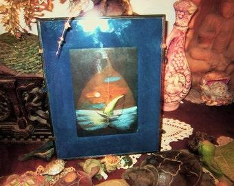 Rare Leaf Vein Painting / Amazing Work of Art Glass Framed  / Handmade Artwork / Watercolor Masterpiece Art - Hand Painted Leaf Art