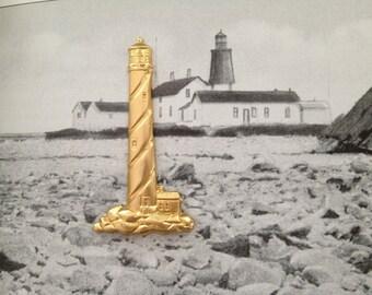 Brass Lighthouse Emblem ( 3 pc)
