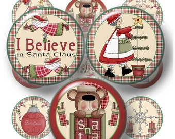 Instant Download, Country, Christmas, Bottle Cap Images, Digital Collage Sheet, 1 Inch Circle Images, Bottle Caps, Bows, Pendants, Magnets