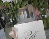 Wedding Programs or Welcome Books, Wedding Ceremony, Antique, Vintage, Elegant, Classic, Monogram, CHOOSE RIBBON