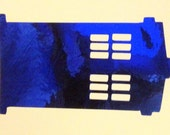 Tardis Inspired Royal Blue Chrome Vinyl Decal