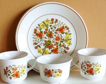 Vintage Corelle By Corning Indian Summer Dinnerware Ser