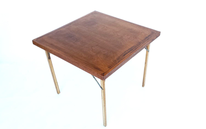 rustic folding table vintage wood card table. Black Bedroom Furniture Sets. Home Design Ideas