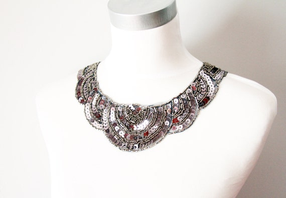 Items similar to great gatsby jewelry statement silver for Jewelry accessories for black dress