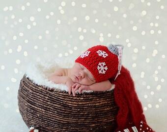 Newborn reindeer hat baby reindeer hat christmas photo prop