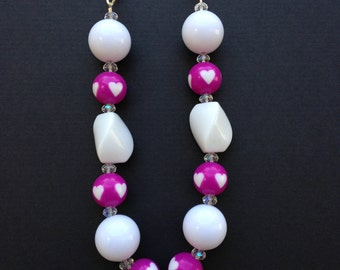 Magenta Gumball Necklace