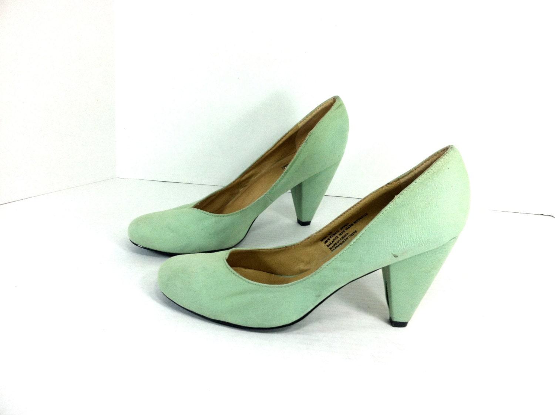 Mint Green High Heel Pumps 10 Seafoam Green High Heels 10