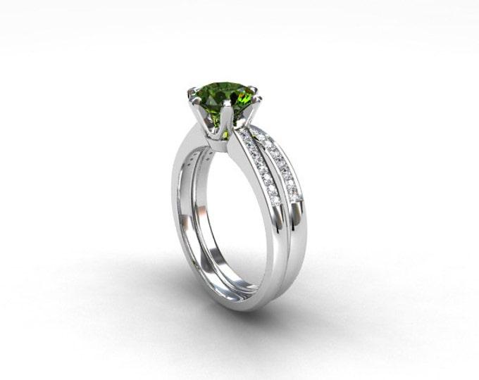 emerald black diamond wedding ring green engagement ring