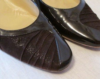 classic BRUNO MAGLI brown patent leather and suede Comfortable pumps Euro 37 Usa 6.5  made in Italy Gs