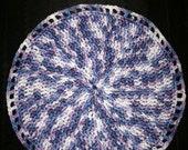 Wash Cloth Light Weight Cotton Yarn Hand Crocheted