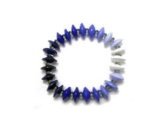 Bracelet, Ombre Bracelet - Paper Bead Bracelet - Saucer Beads - Paper Beads - Paper Bead Jewelry
