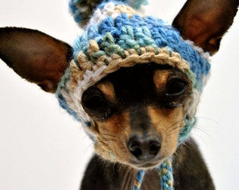 Just Beachy Dog Hat - Pet Hat - Cat Hat - Dog Beanie - Photo Prop - Hand Crochet - Made to Order