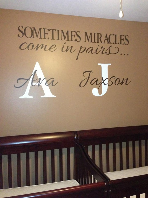 Sometimes Miracles Come In Pairs Monogram Twins By
