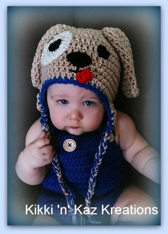Child's Crocheted Puppy Dog Hat
