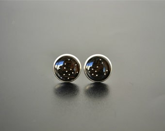 Black Galaxy Computer Circuit Board earrings Jewelry - Science Astronomy Space Universe Stud Earrings