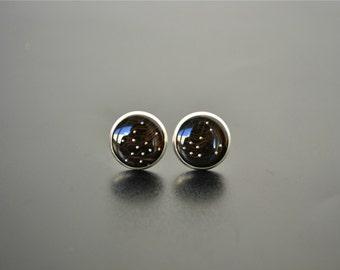 Computer Earrings - Black Circuit Board Jewelry - Geekery Gothic Stud Earrings