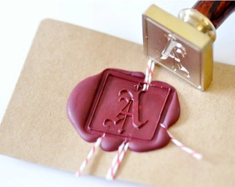 B20 Wax Seal Stamp Personalized Old English Custom Initial
