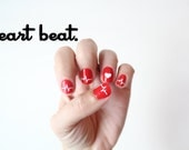 Heart Beat -Vinyl Nail Stickers  Pack of 50